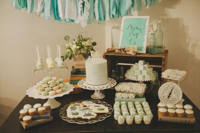 cake table for dreamcatcher shower