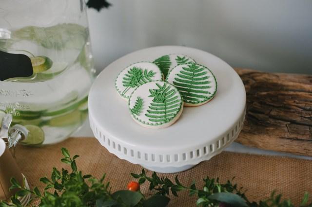 fern cookies by Sara Sweet Smiles| Creative Wife & Joyful Worker