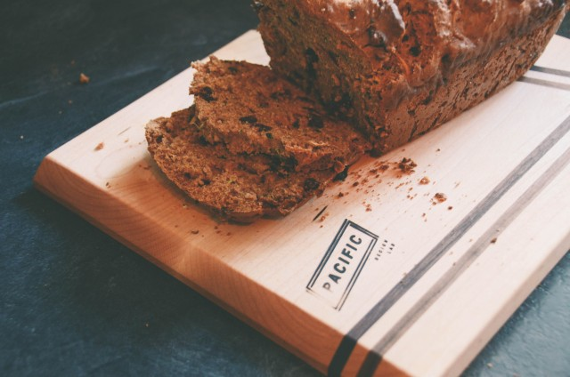 zucchini loaf on a pacific design lab cutting board #handmade #recipe |Creative Wife & Joyful Worker
