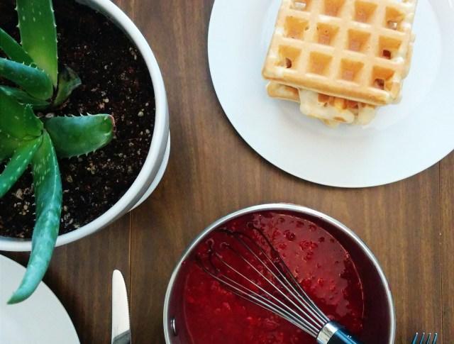 raspberry waffle puree recipe