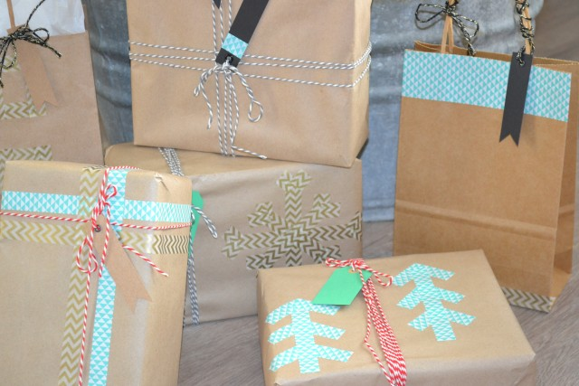 DIY Washi Tape Gift Wrap | Holiday and Event Decor Ideas and Inspiration
