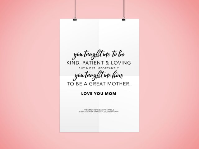 Free Mother's Day Printable Download