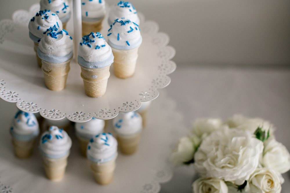 Icecream Themed Sweet Baby Shower | Marshmallow icecremam treats