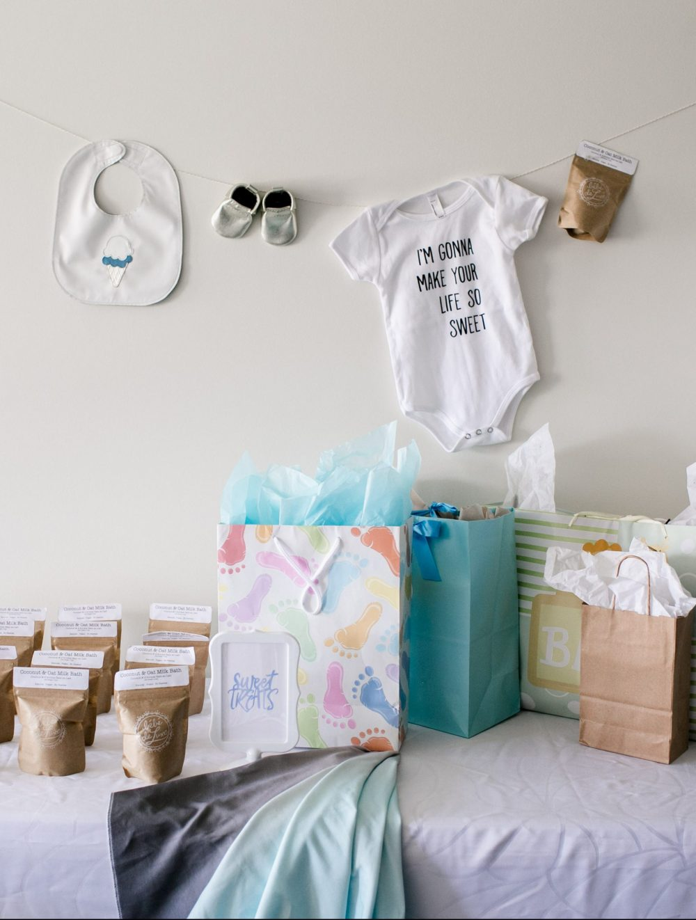 Icecream Themed Sweet Baby Shower -- Gift Table