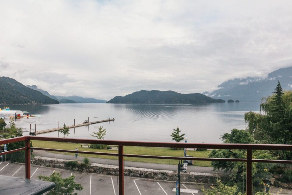 View from The Beach Hotel at Harrison Lake