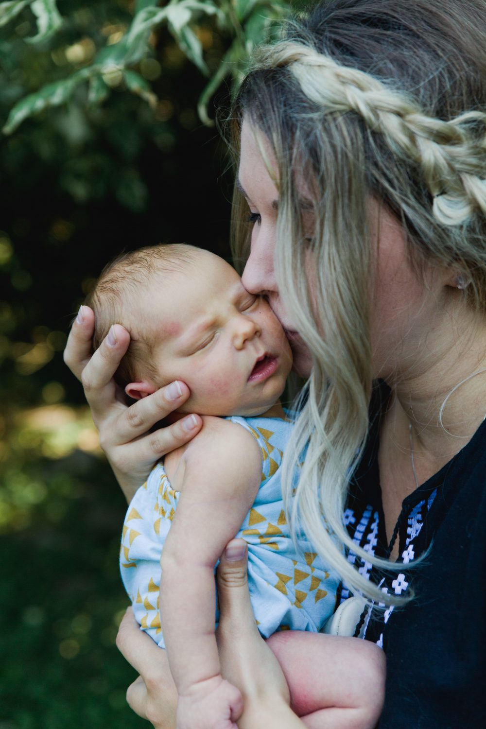 Mother and Daughter Newborn baby photography