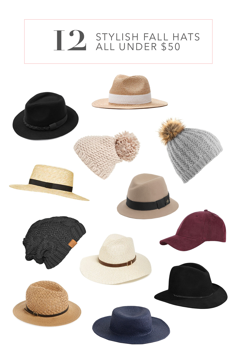 Affordable Hats for Fall