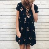 Floral Fall Dress   Hunnis Boutique
