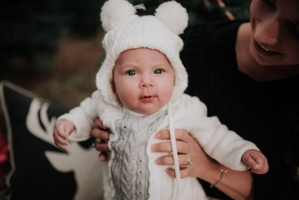 Little Girl Style for Christmas Family Photos