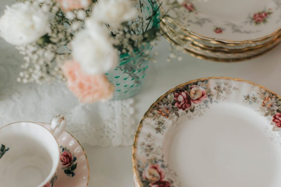 Mint and Peach Floral Tea Party Baby Shower
