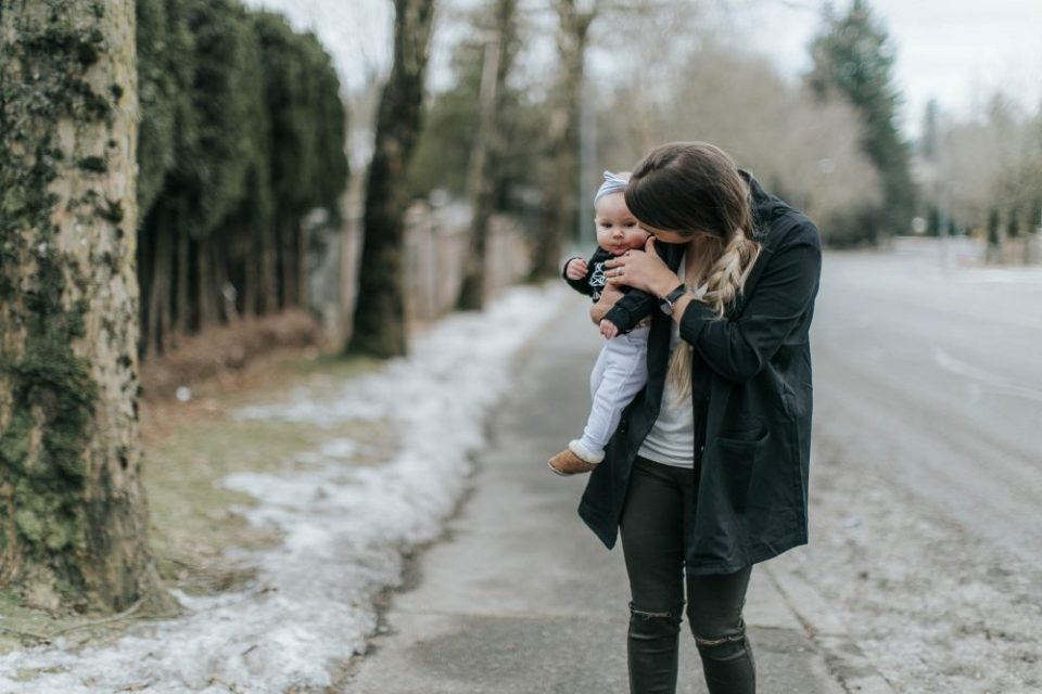 Mom and Baby Kisses | Style & Fashion | Spring Wardrobe