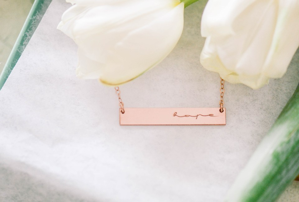 Hope | a necklace made for my sister after her cancer diagnosis | Mint and Birch
