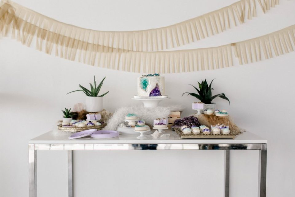 Gemstone and Crystal Themed Baby Shower | Party hacks and features on the blog