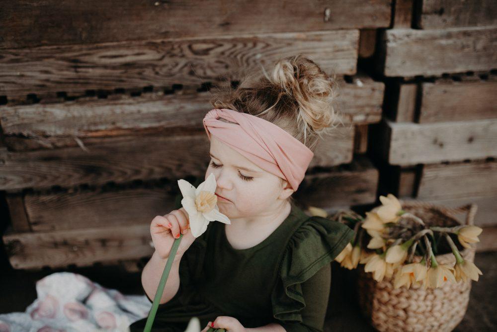 Green Remie Co. Dress | Kids Daffodil Field Picnic
