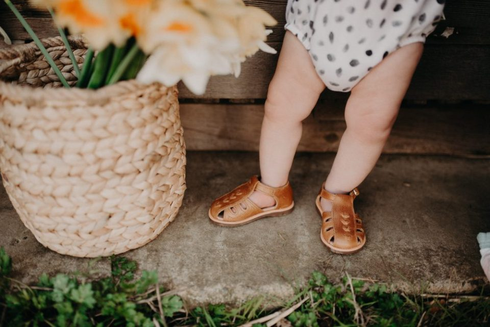 Brown Leather Sandals | Kids Daffodil Field Picnic