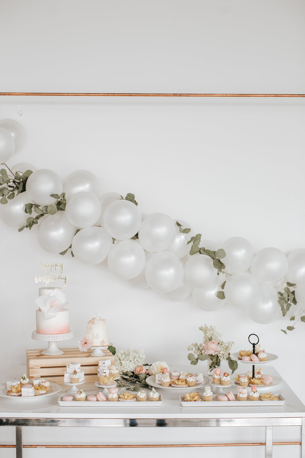 Floral Themed First Birthday Party | Happy Birthday Evelyn!Creative ...