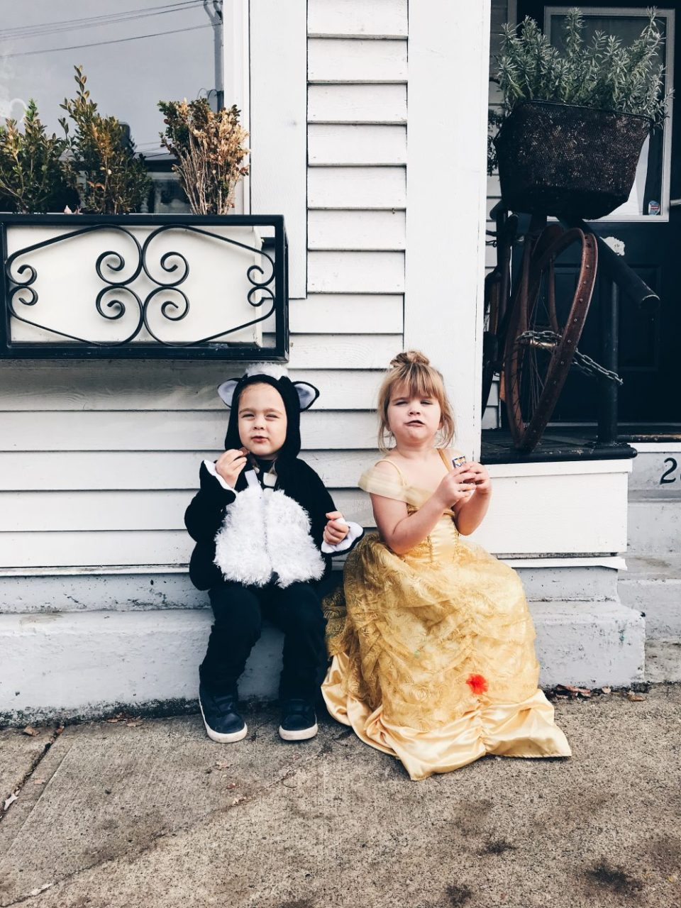 Belle and a Skunk | Downtown Abbotsord Trick or Treating 2017 Halloween Costumes
