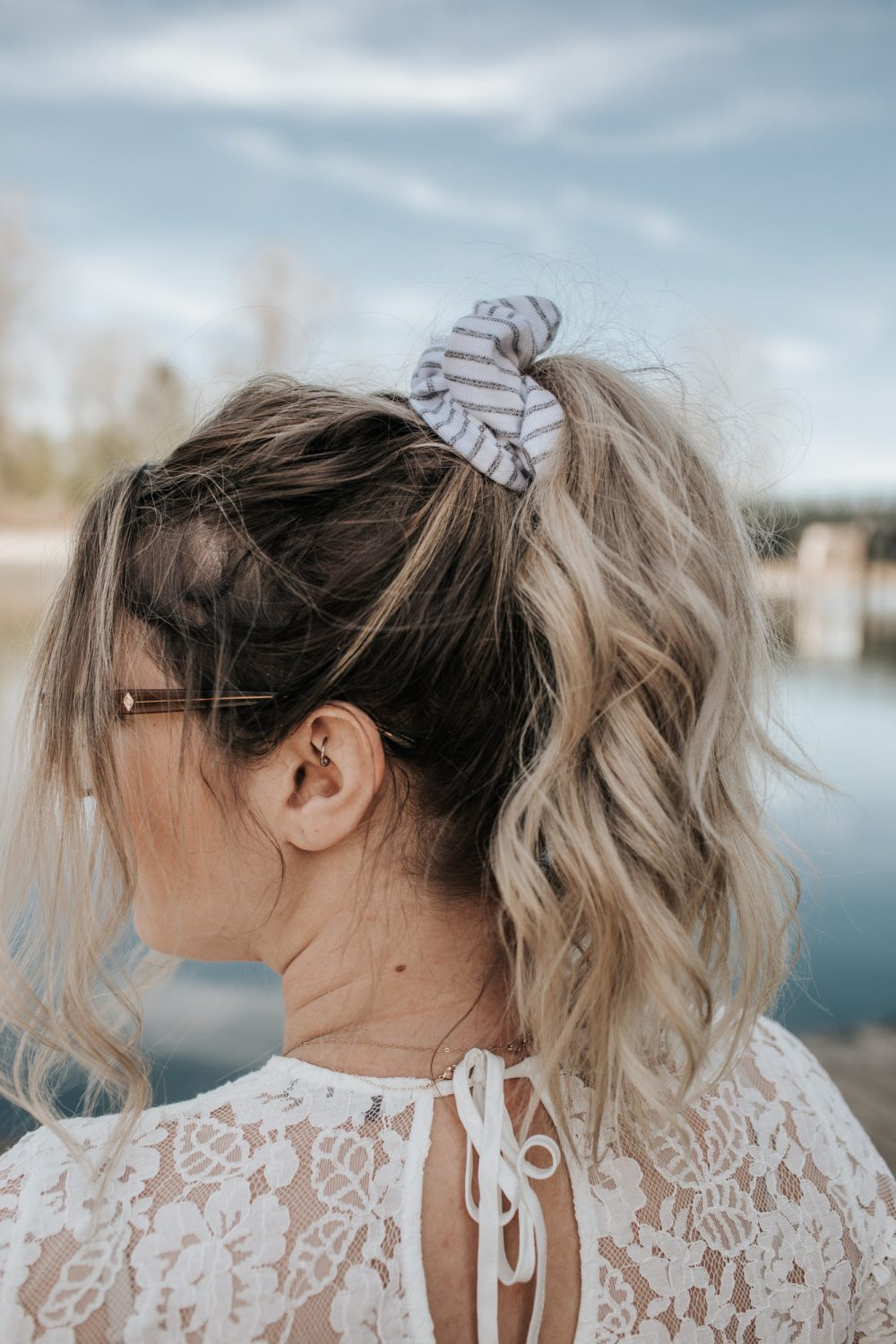 How to Style a Hair Scrunchie | Julie Christine Photography