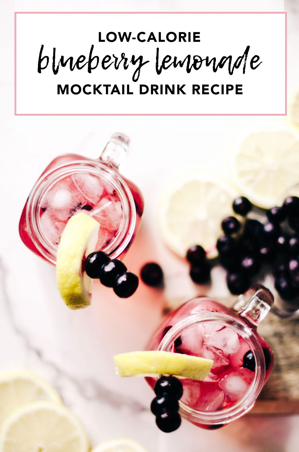 Low-Calorie Blueberry Lemonade Mocktail Drink Recipe with SunRype Slim 10