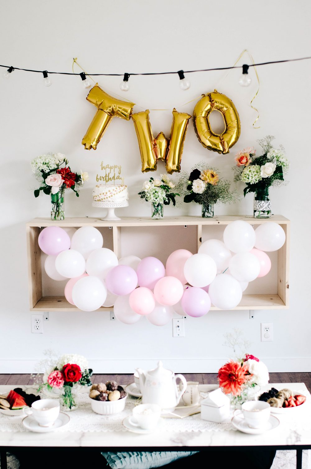 tea party themed two year old birthday partycreative wife joyful
