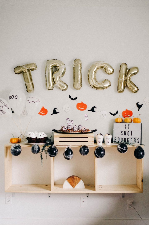 Kids Halloween Party Drink a Spooktacular Orange Sherbet drink