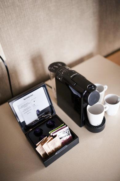 Nespresso Machine at Blue Horizon Hotel on Robson Street