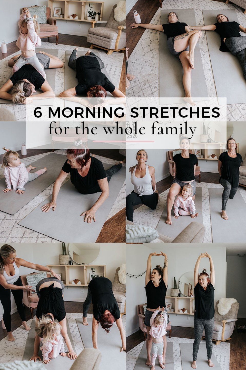 6 Morning Stretches for the Whole Family