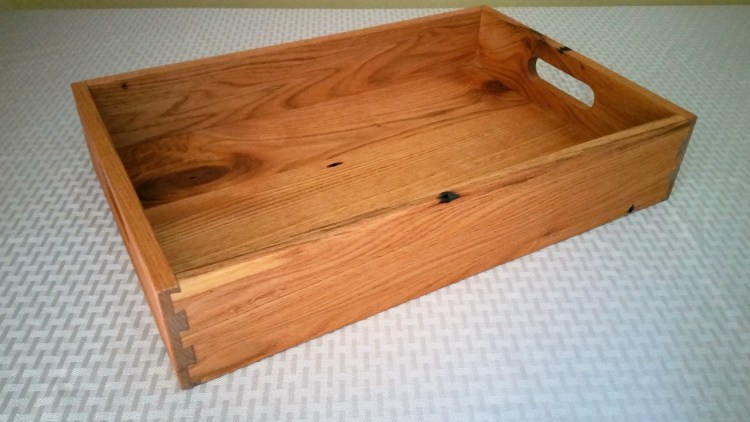 Reclaimed Alder Serving Tray with Dovetails 3