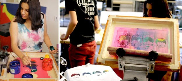 Art High Participant Making a Screen Print. Art High, Armory Center for the Arts, Pasadena, CA, 2015 National Arts and Humanities Youth Program Awardee. Photos: Armory Center for the Arts.