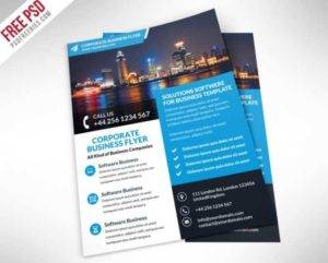 Corporate Business Flyer Free PSD Template