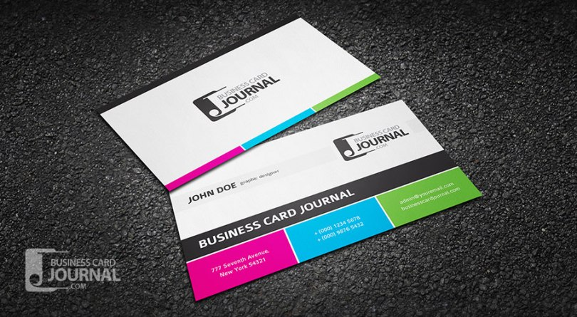 Clean & Modern Tricolor Business Card Template