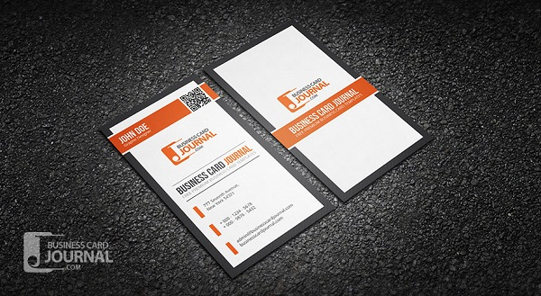 Professional QR Code Business Card Template