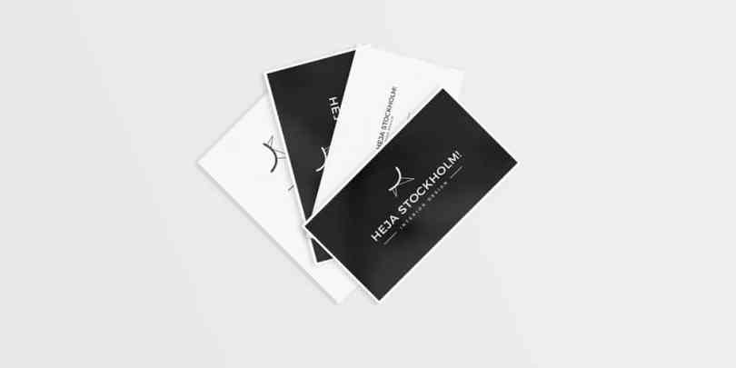 Free Clean Business Card Mockups PSD