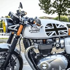 Pads de réservoir «Union Jack» pour Triumph Thruxton 1200