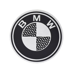 badge bmw aluminium grille noir