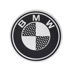 Badges BMW avec grille en aluminium (la paire)
