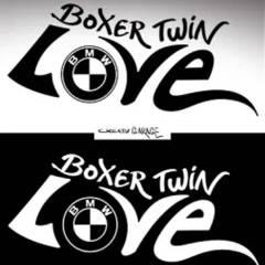 Sticker de réservoir «Boxer Twin LOVE» pour BMW Nine T