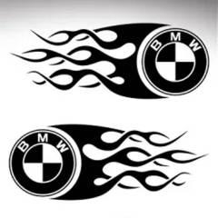 Stickers de réservoir «Flamme» pour BMW Nine T