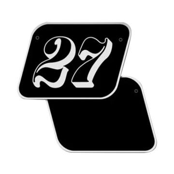 Plaques latérales avec numéro pour BMW Nine T