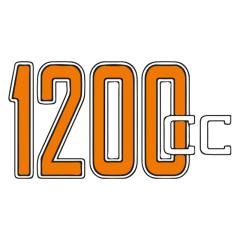 Stickers de réservoir «1200cc» pour BMW Nine T
