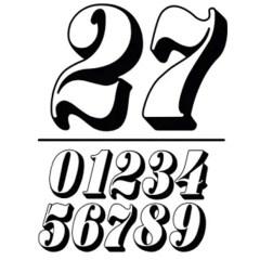 Sticker numéro FLAT TRACK