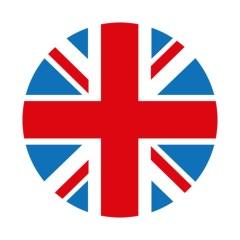 Sticker de phare rond  «Union Jack»  – Couleurs