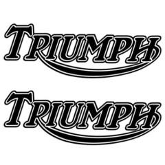 Stickers de réservoir «TRIUMPH» italic vintage