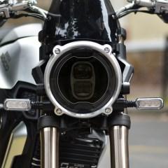 Sticker NEO pour optique de phare ronde Moto – Fumé