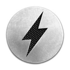 Badges ÉCLAIR en aluminium fraisé – 85mm (la paire)