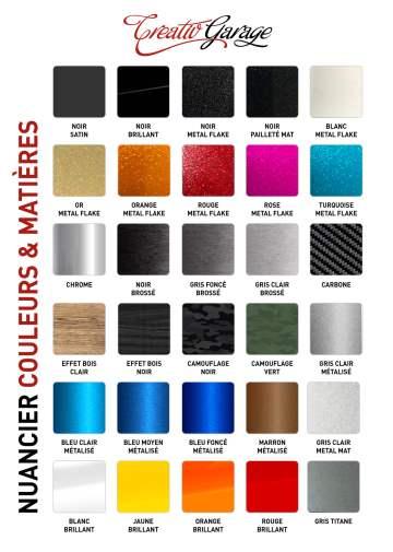 nuancier couleurs et matières