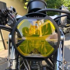Sticker de phare croix CIRCUIT jaune