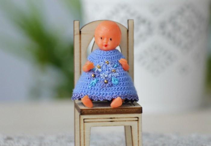 Miniature dolls dresses collection