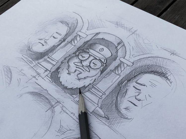 juego de tronos ilustraciones boceto
