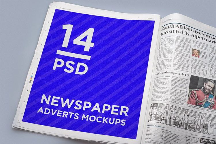 mock up gratis periodico
